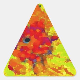 Spinderokのダリア 三角形シール