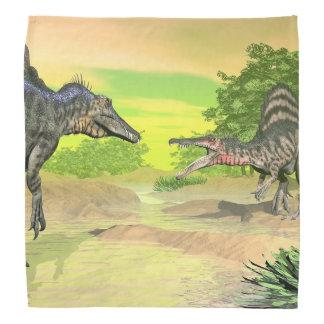 Spinosaurusの恐竜の戦い- 3Dは描写します バンダナ