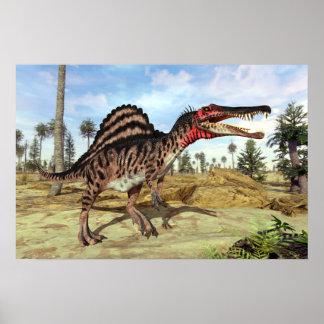 Spinosaurusの白亜の恐竜 ポスター