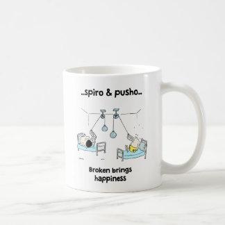 Spiro及びPushoによって壊されるやる気を起こさせるな引用文の白のマグ コーヒーマグカップ