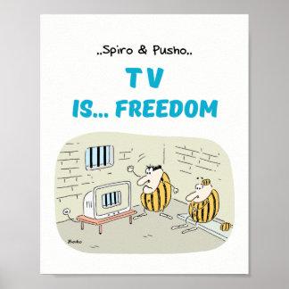Spiro及びPusho TVは漫画ポスター8x10を引用します ポスター