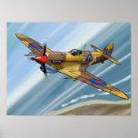 Spitfire over malta ポスター