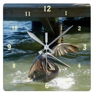 Splashdown スクエア壁時計