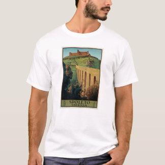 Spoletoウンブリア州イタリアのヴィンテージ旅行ポスター芸術 Tシャツ