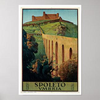Spoleto、ウンブリア州 ポスター