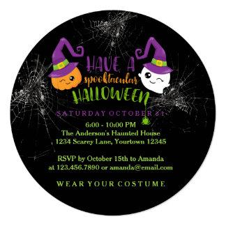 Spooktacularのハローウィンパーティのカスタムの招待状 13.3 スクエアインビテーションカード