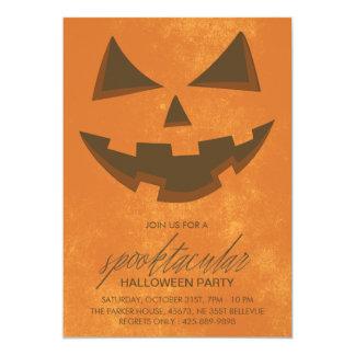 Spooktacularのハローウィンパーティの招待状カード カード