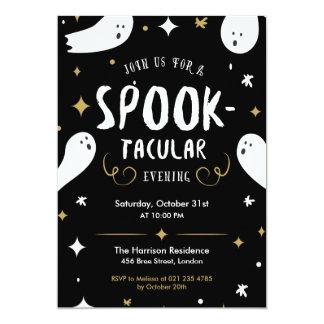 Spooktacularのハローウィンパーティの招待状 カード