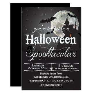 Spooktacularハロウィンの衣裳のパーティー 12.7 X 17.8 インビテーションカード