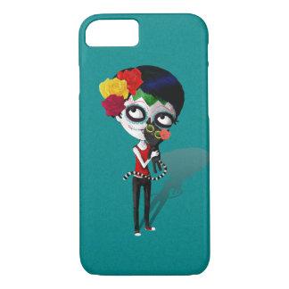 spooky Dia de Los Muertos Girl iPhone 8/7ケース