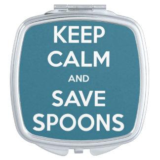 Spoonie -平静および保存のスプーンの鏡を保って下さい