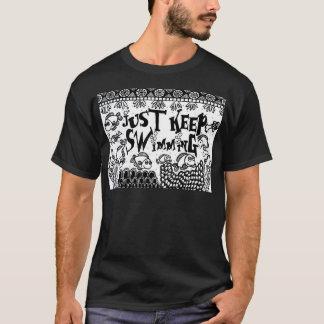 Spoonie-Justは水泳慢性の病気を保ちます Tシャツ