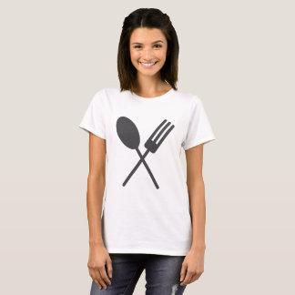 Sporkの黒人女性のティー Tシャツ