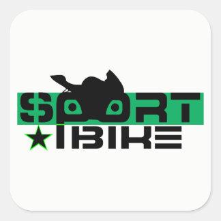 Sportbikeのライダー スクエアシール