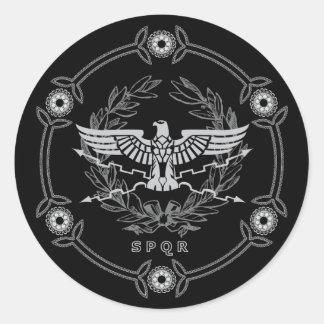 SPQRローマ帝国の紋章のステッカー ラウンドシール