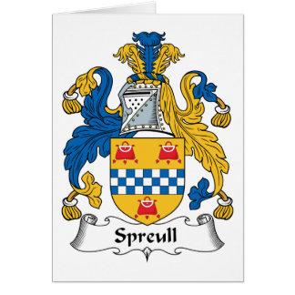 Spreullの家紋 カード