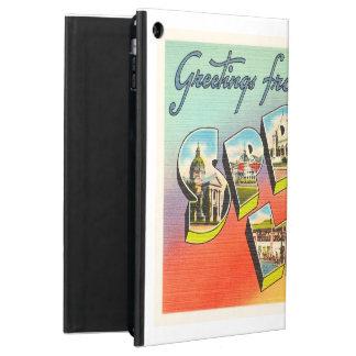 spring湖のニュージャージーNJのヴィンテージ旅行郵便はがき iPad Airケース