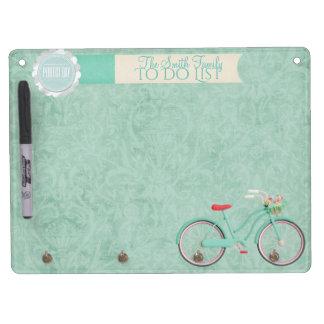 Springtime Bicycle Ride Whiteboard & Key chain... キーホルダーフック付きホワイトボード