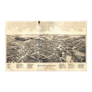 Springvilleニューヨーク(1892年)の地図 キャンバスプリント