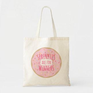 sprinkles勝者おもしろいなドーナツトートのためです トートバッグ