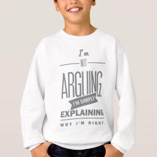 Spruch_Arguing_mono.png スウェットシャツ