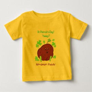 Spudmanの水田のセントパトリックの日の乳児のTシャツ ベビーTシャツ