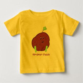 Spudmanの水田の乳児のTSワイシャツ ベビーTシャツ