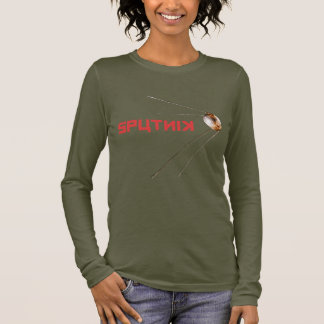 SPUTNIK -宇宙かロシア語またはソビエト連邦または技術 長袖Tシャツ