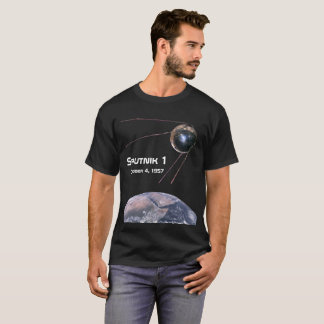 Sputnik 1の人工衛星 tシャツ