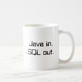 SQLのジャワ コーヒーマグカップ