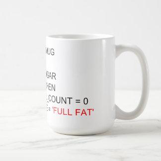 SQLのプログラミングの茶マグ コーヒーマグカップ