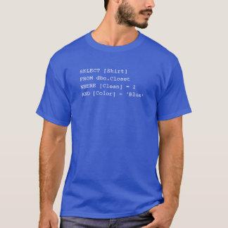 SQLのワイシャツ-青 Tシャツ