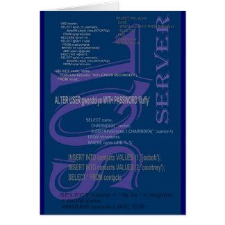 SQLサーバー グリーティングカード