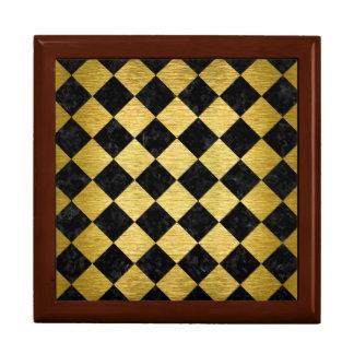 SQR2 BKの大理石の金ゴールド ギフトボックス