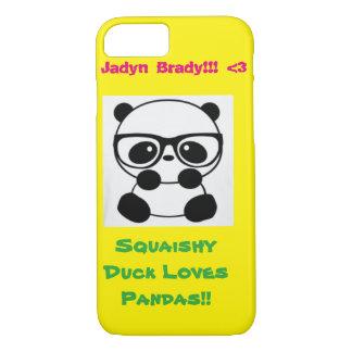 Squaishyのアヒルはパンダを愛します! iPhone 8/7ケース