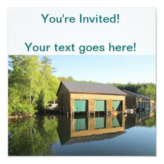 Squamの川のボートハウス カード