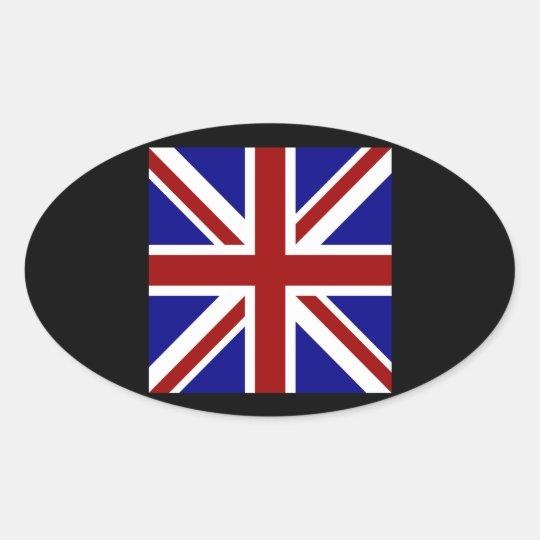 Square Union Jack 楕円形シール