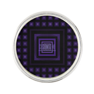 Squareception (正方形パターン)の紫色 ラペルピン