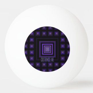 Squareception (正方形パターン)の紫色 卓球ボール