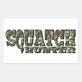 Squatchのハンター-迷彩柄パターン 長方形シール