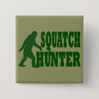 Squatchのハンター 5.1cm 正方形バッジ