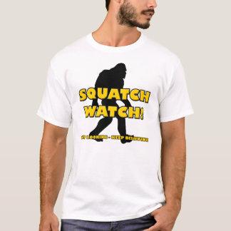 Squatchの腕時計のおもしろいなサスカッチのビッグフットの雪男のワイシャツ Tシャツ
