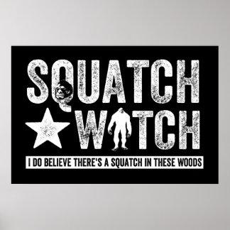 Squatchの腕時計(暗闇のために)私が信じる ポスター