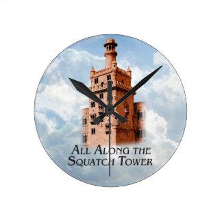 Squatchタワーに沿ってすべて-多数プロダクト ラウンド壁時計