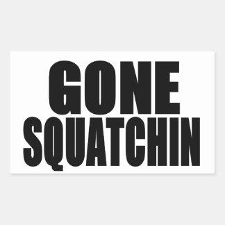 Squatchinの行った黒いロゴ 長方形シール
