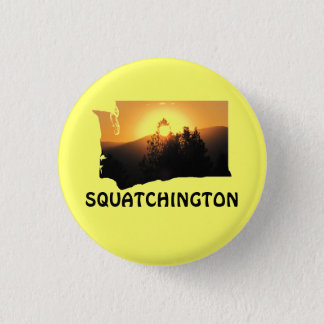 Squatchingtonの日没 3.2cm 丸型バッジ