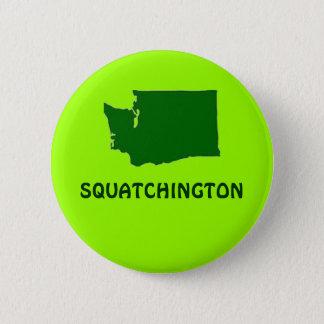 Squatchingtonワシントン州のシルエット 5.7cm 丸型バッジ