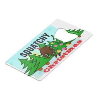 Squatchyのおもしろいなクリスマスビッグフット クレジットカード栓抜き