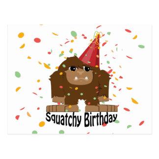 Squatchyのかわいい誕生日ビッグフット ポストカード