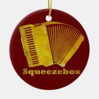 Squeezebox セラミックオーナメント